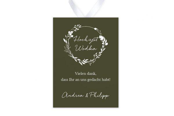 Aufkleber und Anhänger Hochzeit Aufnahme mit Gräserkranz Aufkleber & Etiketten Hochzeit
