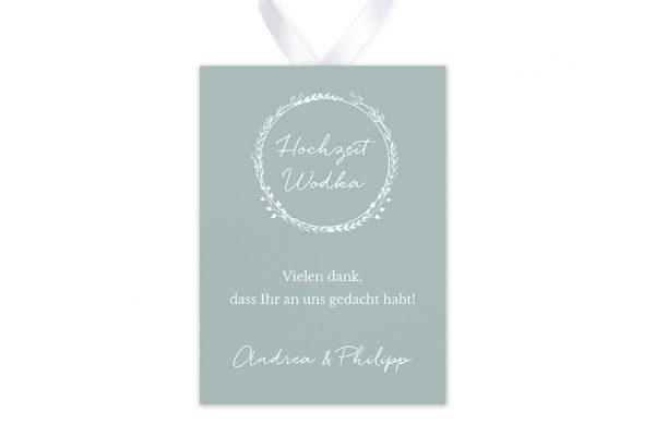Aufkleber und Anhänger Hochzeit Aufnahme mit Blümchenkranz Aufkleber & Etiketten Hochzeit