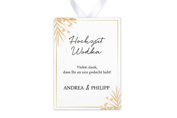 Aufkleber und Anhänger Hochzeit Floral Elegant Traditionell Aufkleber & Etiketten Hochzeit