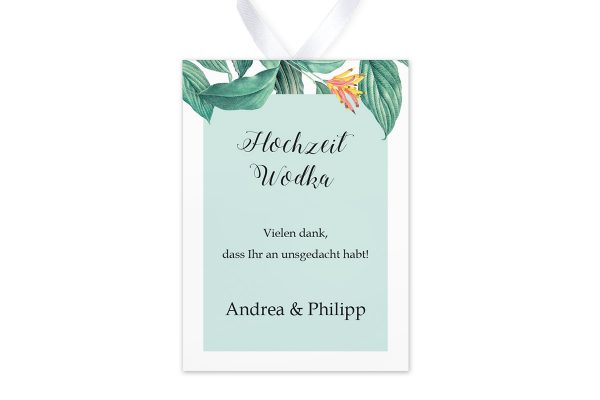 Aufkleber und Anhänger Hochzeit Tropical Aechmea Aufkleber & Etiketten Hochzeit