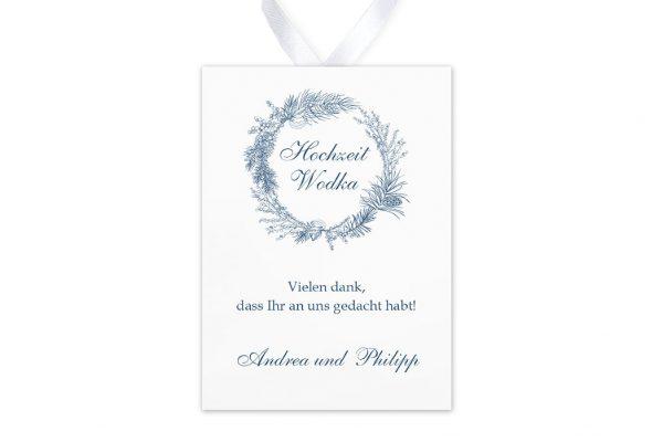 Aufkleber und Anhänger Hochzeit Rosenpracht mit Tannenzapfen Aufkleber & Etiketten Hochzeit