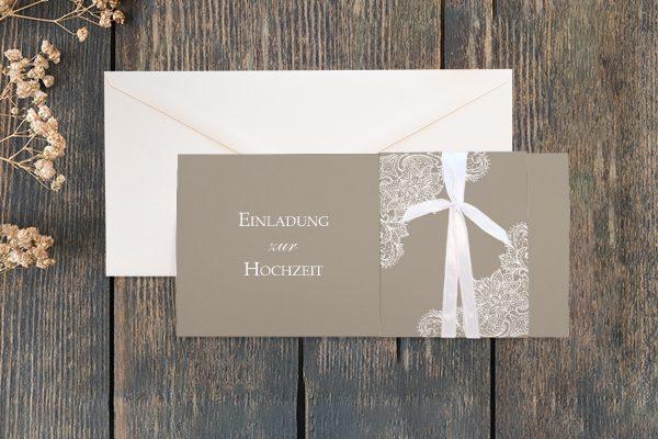 Hochzeitseinladungen Hochzeitseinladungen Spitzentraum Crafty