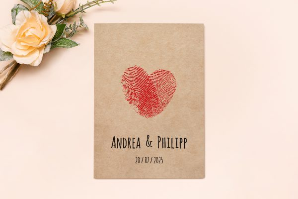 Hochzeitseinladungen Hochzeitseinladungen Fingerabdruck Liebeserklärung
