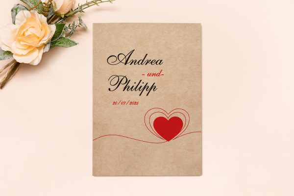 Hochzeitseinladungen Hochzeitseinladungen Fingerabdruck Herzensding