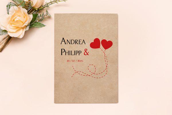 Hochzeitseinladungen Hochzeitseinladungen Fingerabdruck Love