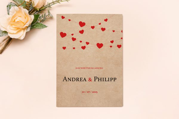 Hochzeitseinladungen Hochzeitseinladungen Fingerabdruck Simple Love