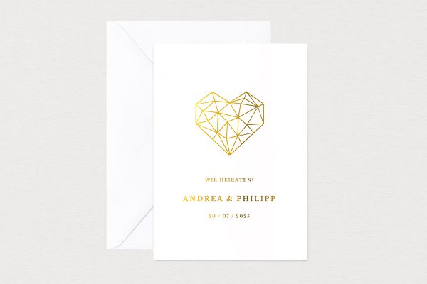 Hochzeitseinladungen Hochzeitseinladungen Herzensangelegenheit dreidimensional