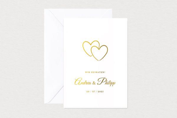 Hochzeitseinladungen Hochzeitseinladungen Herzensangelegenheit verschlungen