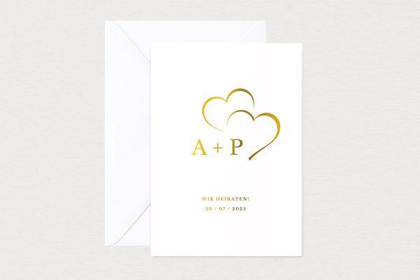 Hochzeitseinladungen Hochzeitseinladungen Herzensangelegenheit angedeutet
