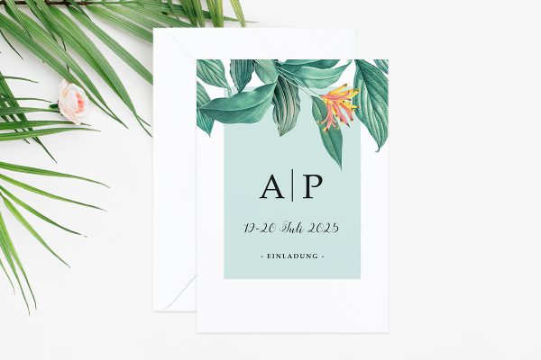Hochzeitseinladungen Hochzeitseinladungen Tropical Aechmea