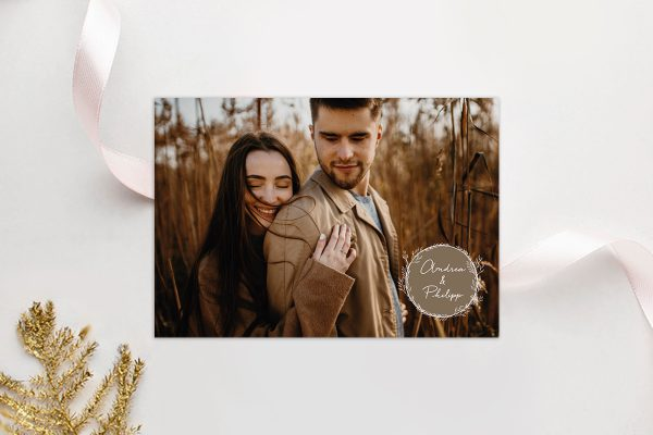 Einladungskarten mit Fotos Hochzeitseinladungen Runde Sache südlich