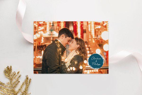 Einladungskarten mit Fotos Hochzeitseinladungen Runde Sache sommerlich
