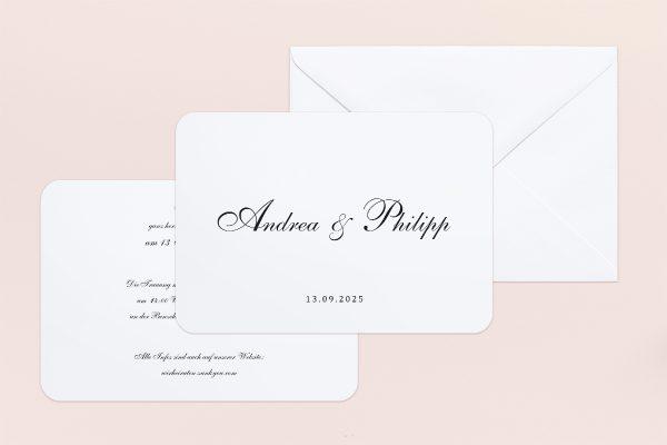 Hochzeitseinladungen Hochzeitseinladungen Minimalistisch Sonate