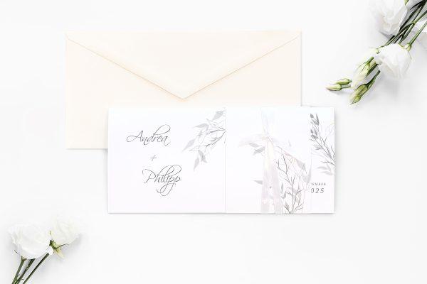 Einladungskarten mit Fotos Hochzeitseinladungen Zeichnung Schwarz und Weiß