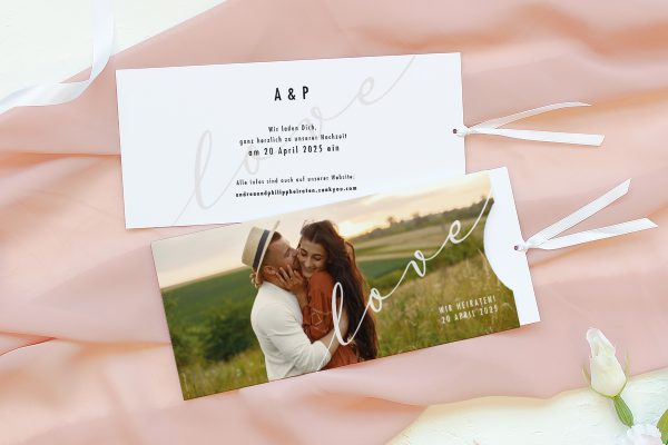 Einladungskarten mit Fotos Hochzeitseinladungen Horizont Grenzenlos