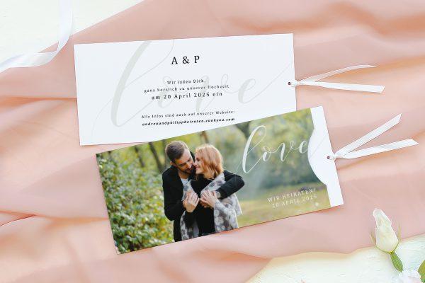 Einladungskarten mit Fotos Hochzeitseinladungen Horizont Unerschöpflich
