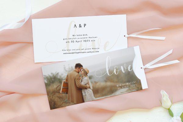 Einladungskarten mit Fotos Hochzeitseinladungen Horizont Unbegrenzt