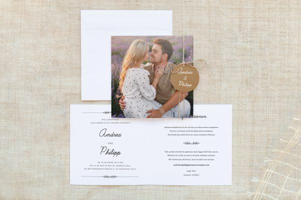 Einladungskarten mit Fotos Hochzeitseinladungen Fotoglück Total