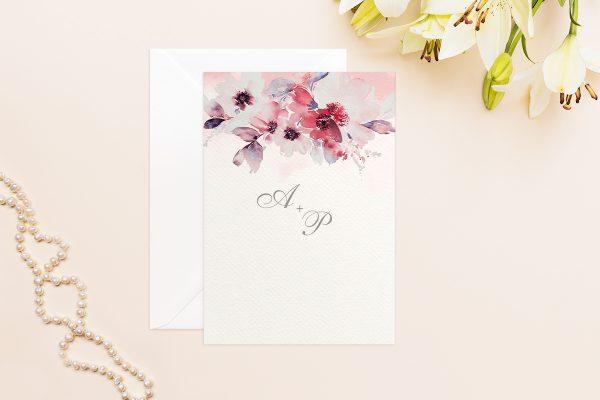 Hochzeitseinladungen Hochzeitseinladungen Aquarell Rosa
