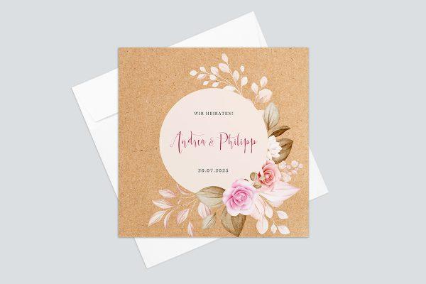 Hochzeitseinladungen Hochzeitseinladungen Oleander Bianco Zarte Blumen