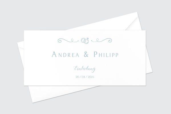 Hochzeitseinladungen Hochzeitseinladungen Tender Love  Rings of Love
