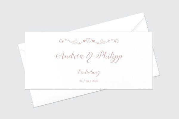 Hochzeitseinladungen Hochzeitseinladungen Tender Love  Verspielte Liebe
