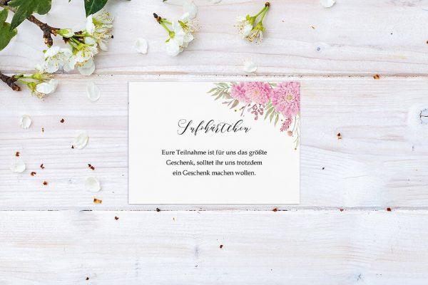 Extras Laubfall Unbeschwert Hochzeitsinfokärtchen