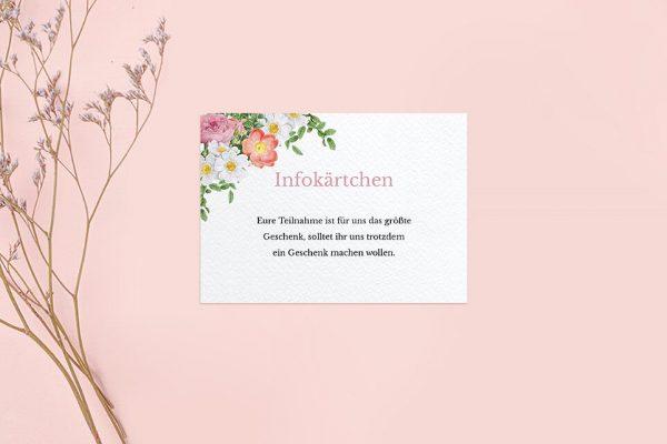 Extras Blumenbeet Apart Hochzeitsinfokärtchen