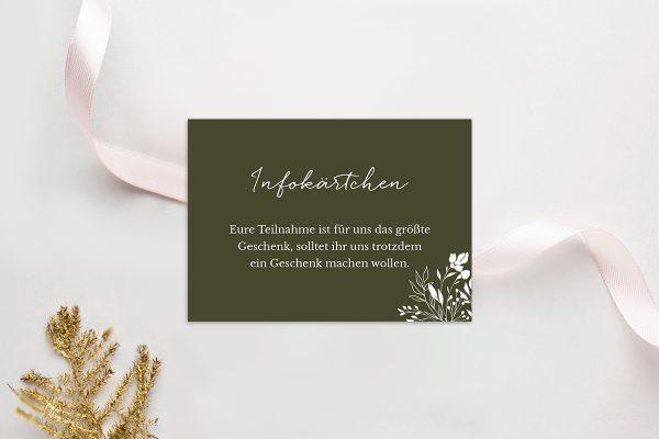 Extras Runde Sache duftend Hochzeitsinfokärtchen