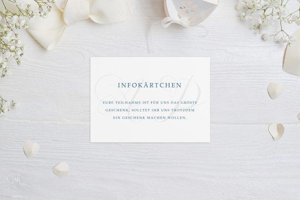 Extras Klassich Lässig Hochzeitsinfokärtchen