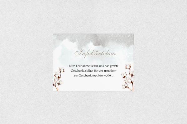 Extras Palmen weich Hochzeitsinfokärtchen