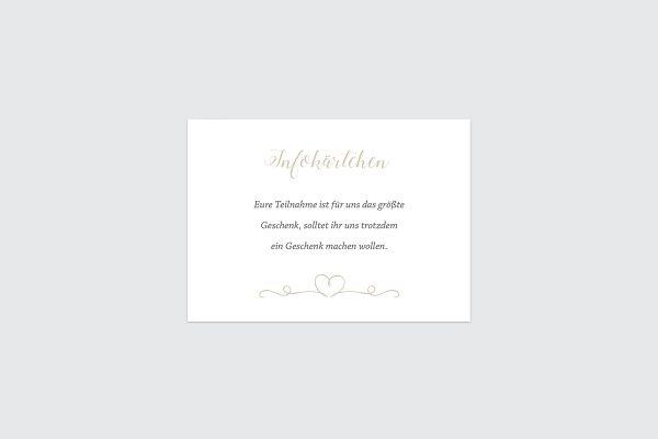 Extras Tender Love  Liebe Hochzeitsinfokärtchen