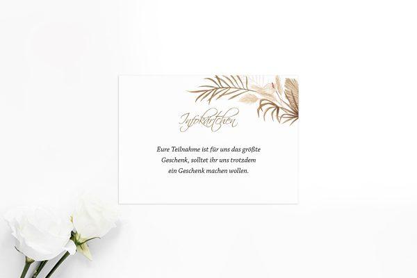 Extras Zeichnung Ausgefallen Hochzeitsinfokärtchen
