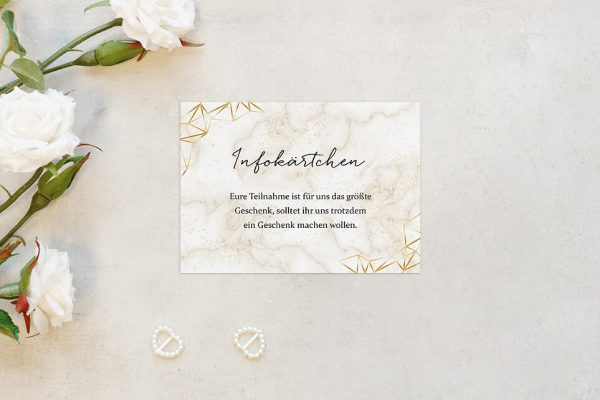 Extras Batik Funkeln Hochzeitsinfokärtchen