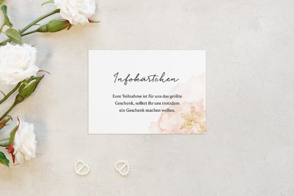 Extras Aprikosen Explosion Edel Hochzeitsinfokärtchen