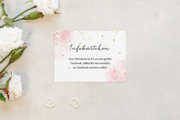 Extras Morgenröte Unbeschwert Hochzeitsinfokärtchen