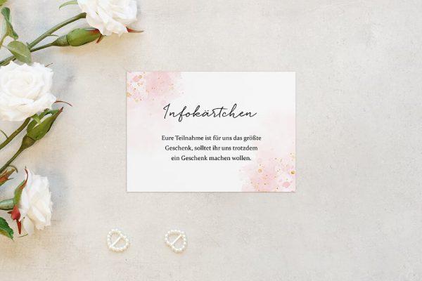 Extras Morgenröte Beeindruckend Hochzeitsinfokärtchen