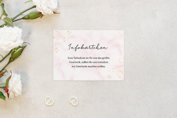 Extras Morgenröte Rosa Hauch Hochzeitsinfokärtchen