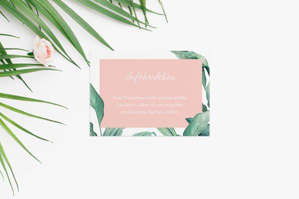 Extras Tropical Topisch wild Hochzeitsinfokärtchen