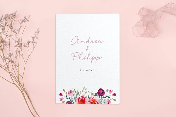 Extras Blumenbeet Luftig Kirchenheft Hochzeit