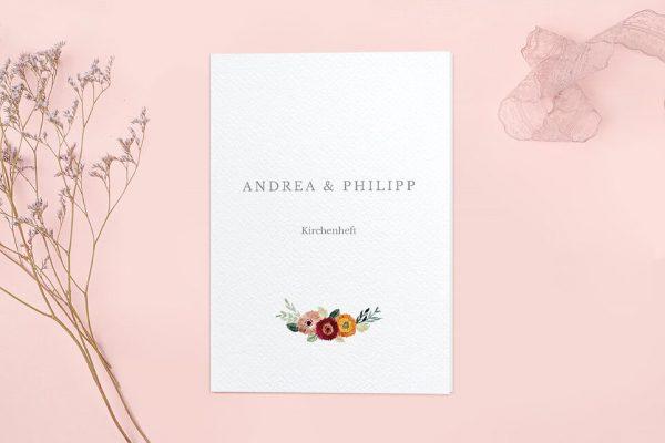 Extras Blumenbeet Sorglos Kirchenheft Hochzeit