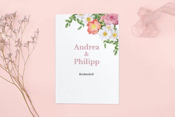 Extras Blumenbeet Apart Kirchenheft Hochzeit
