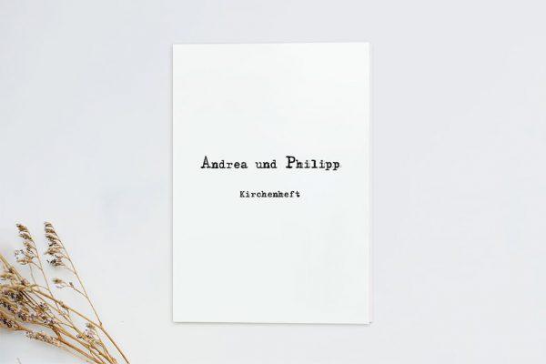 Extras Kalligraphie Vintage Kirchenheft Hochzeit