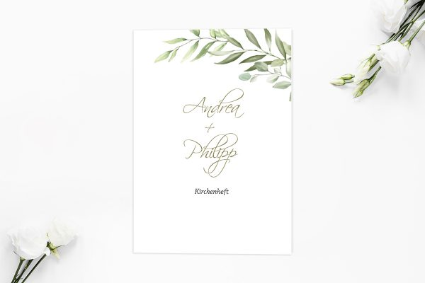 Extras Zeichnung Gemalt Kirchenheft Hochzeit