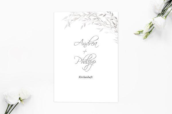 Extras Zeichnung Schwarz und Weiß Kirchenheft Hochzeit