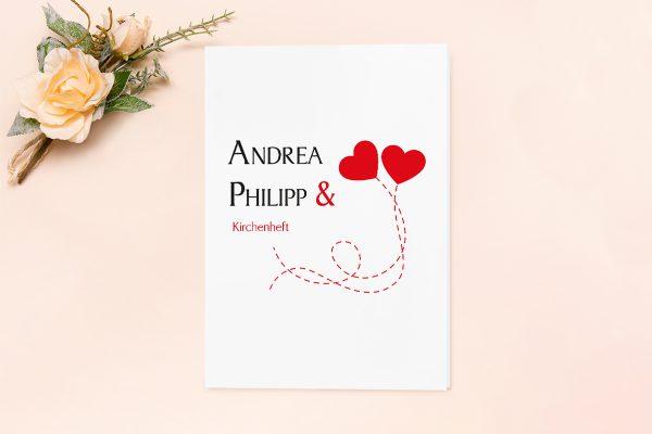 Extras Fingerabdruck Love  Kirchenheft Hochzeit