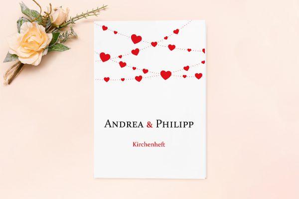 Extras Fingerabdruck Simple Love Kirchenheft Hochzeit