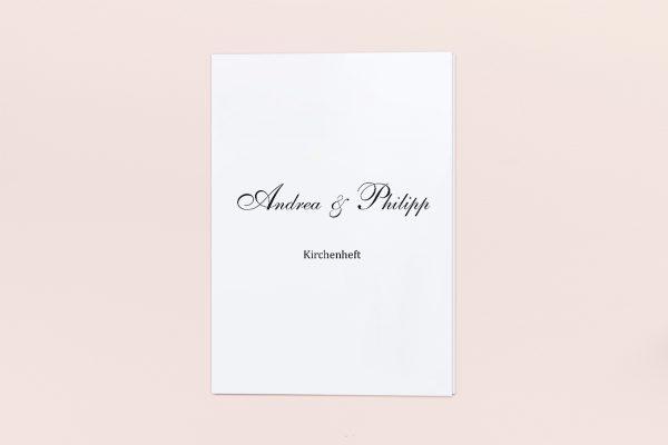 Extras Minimalistisch Sonate Kirchenheft Hochzeit