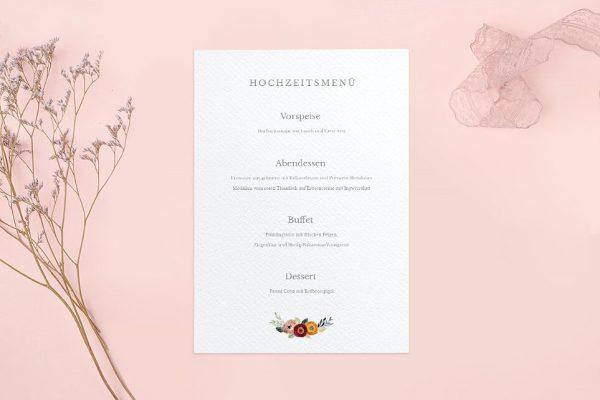 Extras Blumenbeet Sorglos Menükarten