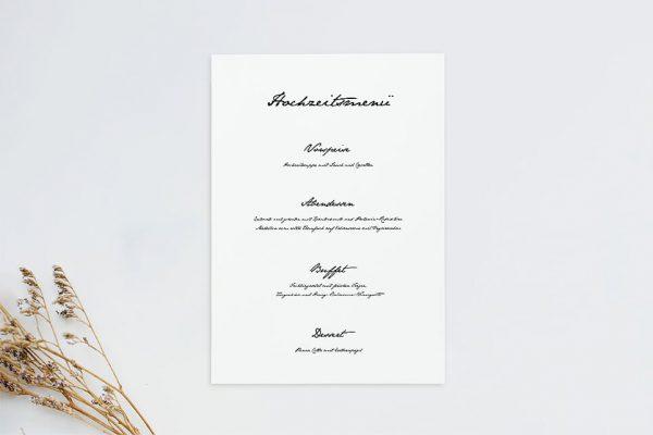 Extras Kalligraphie Handschriftlich Menükarten
